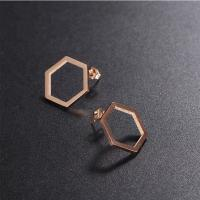 Buy cheap EAST QUEEN Wholesale Hot Selling Fashion 316L Stainless Steel Hexagon Stud from wholesalers