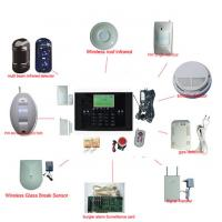 China Mobile Phone Remote Control Home GSM Alarm System on sale