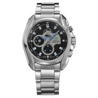 Round sport watches for men japan movt quartz watch stainless steel back Manufactures