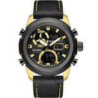 analog digital watch leather watch bands men 30m waterproof multifunction sport watches Manufactures