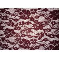 China Beauty Chemical Lace Fabric / Cupion Lace Fabric With Polyester / Cotton Material on sale