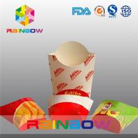 China Folding Paper Box Packaging For French Fries Packaging, Take Away Fast Food Paper Box on sale