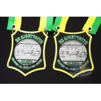 Buy cheap Nicekl Plating Soft Enamel Medals , Die Strucking Custom Medallions With Cord from wholesalers