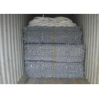 China Hexagonal Woven Mesh Gabion Box , Gabion Retaining Wall 1x1x0.5m 2x1x1m on sale