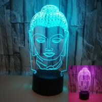 China Gift custom Buddha image dimming 3D LED night lights creative kindergarten school bank Christmas gift on sale