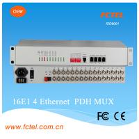 Network management 8 port G.703  plus  4*10/100/1000M with console and snmp VLAN Pdh Multiplexer Manufactures