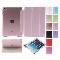 Dust proof 3 Folios PU leather ipad air 2 protective case with Sleep wake for ipad 6 Manufactures