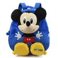 Blue Personalised Mickey Mouse Backpack For Toddler ,  Eco Friendly Manufactures