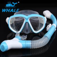 Buy cheap Watertight Anti Fog Lens Diving Mask Set Dry Top Snorkel Tempered Glass from wholesalers