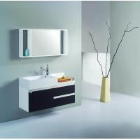 White and black PVC/MDF hanging/floating/wall-mounted bathroom vanity/bathroom cabinet Manufactures