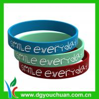 Promotional hot-selling debossed silicone bracelet / sports silicone bracelets Manufactures