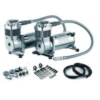 Steel Silver Dual Packs Air Lift Suspension Compressor Fast Inflation For Car Heavy Duty Strong Power Manufactures