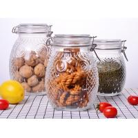 Owl Shape Tea Glass Jar Container / Glass Storage Jar With Silicon On Lid Manufactures