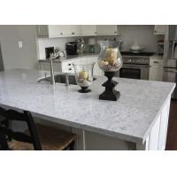 L Shape Natural Marble Kitchen Worktops / Honed Stone Countertops Manufactures