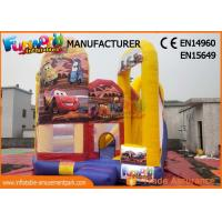 Pvc Inflatable Bouncer Slide / Kids Jumping Castle With Slide Manufactures