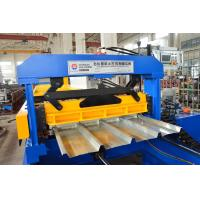 China Galvanized Steel Barrel Type Roof Sheet Making Machine High Frequency PLC Control on sale