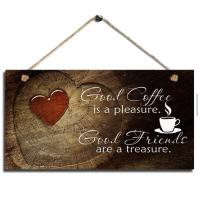 cheap wall decor home decor wood sign plaque coffee wall hanging live laugh love wall decor wall decoration ideas Manufactures