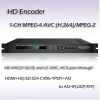 HD-SDI TO IP MPEG-2/H.264 HD Encoder Support 2*balanced stereo XLR, 2*RCA, 1*AES REH2301 Manufactures
