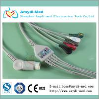 Mindray 5 lead ecg cable, Mindray ecg cable,snap/T8 ECG cable,12 pin Manufactures