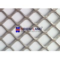 Light Duty Raised And Flat Expanded Metal Mesh , Construction Metal Mesh Rolls for sale
