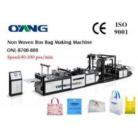 Ultrasonic Sealing Fully Automatic Non Woven Bag Making Machine 40-100pcs / Min Manufactures