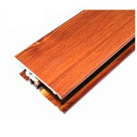 Square Wood Finish Aluminium Profiles , Different Colors Aluminium Framing Systems Manufactures