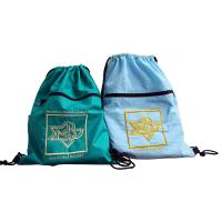 Drawstring Nylon Storage Bags 420D Nylon Fabric Back Bags With Emboidery Logo Manufactures