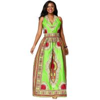 Ms batiks sleeveless  dress,  African Print Dresses,the waist with elastic Manufactures