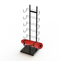 Buy cheap Flooring Stand Display yoga mat hanging rack 6 shelves 12 Layers from wholesalers
