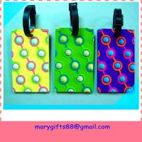 custom soft rubber PVC luggage tag Manufactures