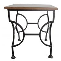 Buy cheap Laminate top with black powder coat finish metal side table,metal end table/metal coffee table for hotel furniture from wholesalers