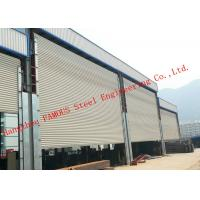 Frequency Controlled Vertical Lifting Fabric Industrial Doors For Large Openings Manufactures