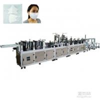 China Blue Non Woven Face Mask Making Machine Computer PLC Programming Control on sale