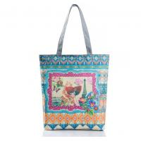 China Female beauty Tower landscape canvas bag Europe Ms. printing on sale