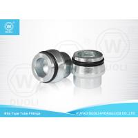 Bite Type Tube Fitting Cap With O RING And Tube Nut , High Pressure Hydraulic Fittings Manufactures