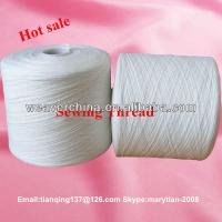 100% spun polyester yarn 40s/1 bleach white from Weaver Ltd., Manufactures