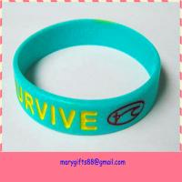 simple fashion rubber cancer bracelets Manufactures