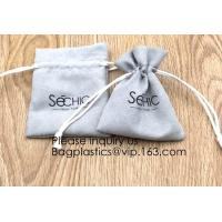 Quality Handmade Velvet Long Drawstring Jewelry Pouches Bag Gift,Suede Fabric Drawstring Bag Jewelry Bag Gift Bag Small Mini Car for sale