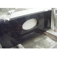 Black Dupont Granite Bathroom Vanity Tops , Granite Overlay Countertops With 1 Faucet  Hole Manufactures