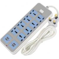USB smart plug-in home multi-function socket European style plug Manufactures
