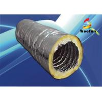 Foil Ventilation Insulated Flexible Ducting , Glass Wool 6 Inch HVAC Flex Duct Manufactures