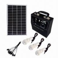 China Portable Solar Power System for Remote Areas, with LED Bulb and Cellphone Chargers on sale