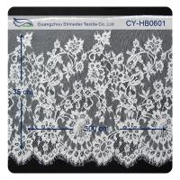Nylon Eyelet Lace Trim , Floral Scallop Bridal Lace For Evening Dress Manufactures