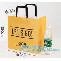 Promotion Recycled Custom Printed Grocery Food Take Away Shopping Brown Kraft Paper Bag With Twisted Handles, bagease Manufactures