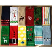velour printed customized cheap Christmas cotton tea towels Manufactures