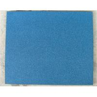 Blue Playground Rubber Mats Plastic For Preschool Non - Toxic Manufactures
