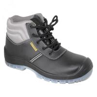 Quality pu/pu outsole with steel toe cap steel pleate blaack safety shoes for man for sale