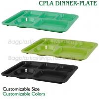 China 5 Compartment Lunch Box Disposable Plastic Food Container, biodegradable Fast Food Tray, disposable safety meat tray on sale
