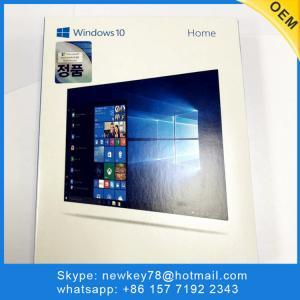 China Best sale Newest Korean Language Microsoft Windows 10 Home with 3.0 USB Flash Drive FPP Key Online activation Windows 10 on sale
