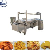 Automatic Puffed Snacks Continuous Fryer Machine , Potato Chips Frying Machine Manufactures